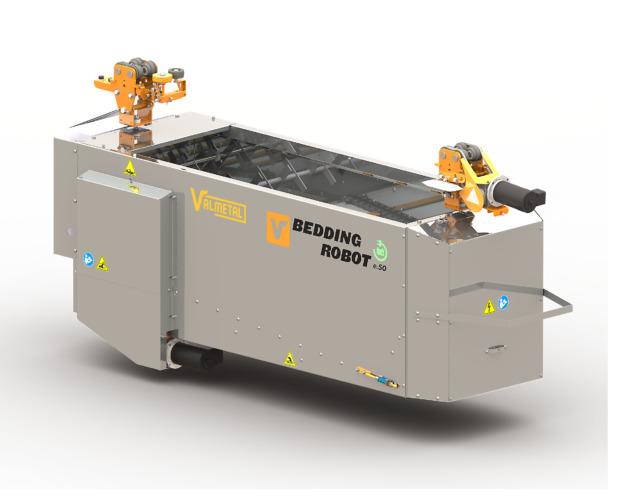 自動敷料散布 ベッディングロボットe50